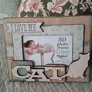 Love My Cat 3D Picture frame NWOT